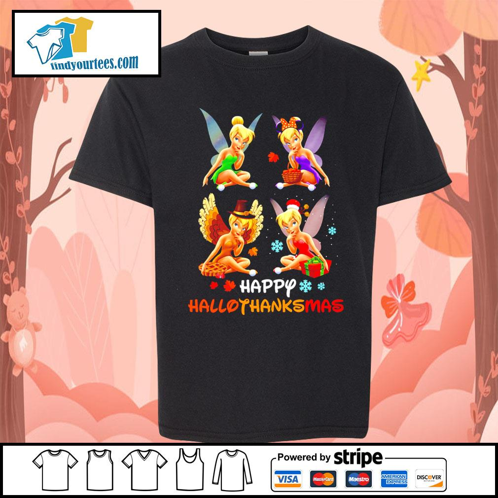 Tinkerbell Happy Hallothanksmas s Kid-T-shirt