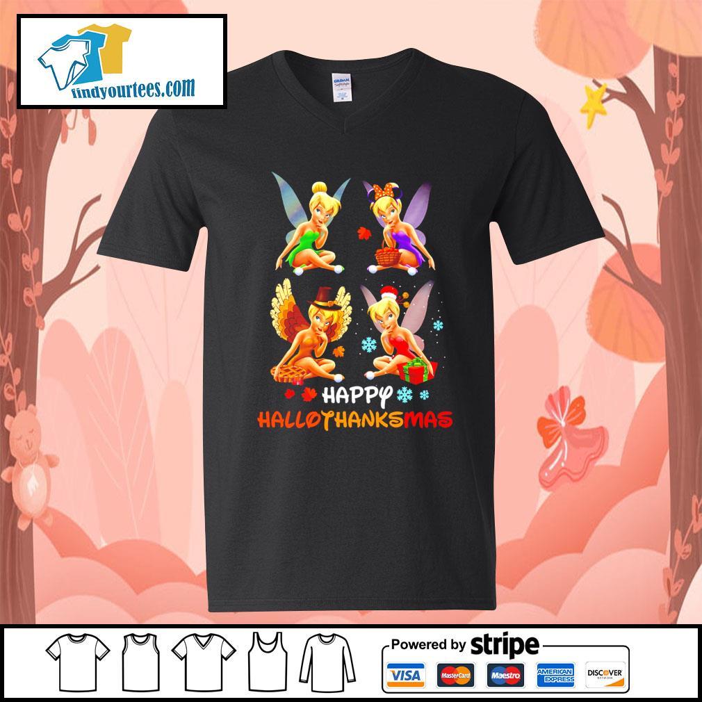 Tinkerbell Happy Hallothanksmas s V-neck-T-shirt