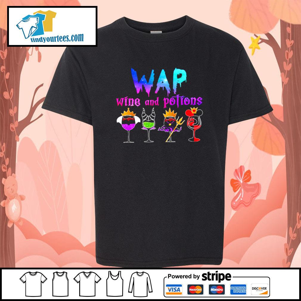 Wap wine and potions Halloween s Kid-T-shirt