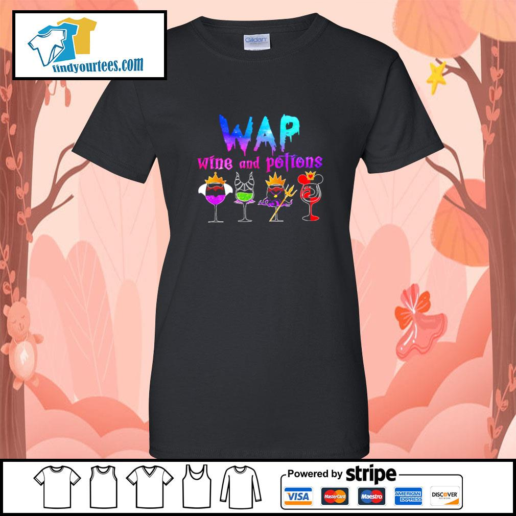Wap wine and potions Halloween s Ladies-Tee