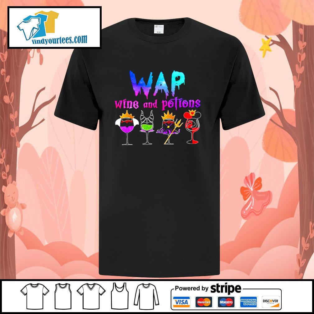 Wap wine and potions Halloween shirt