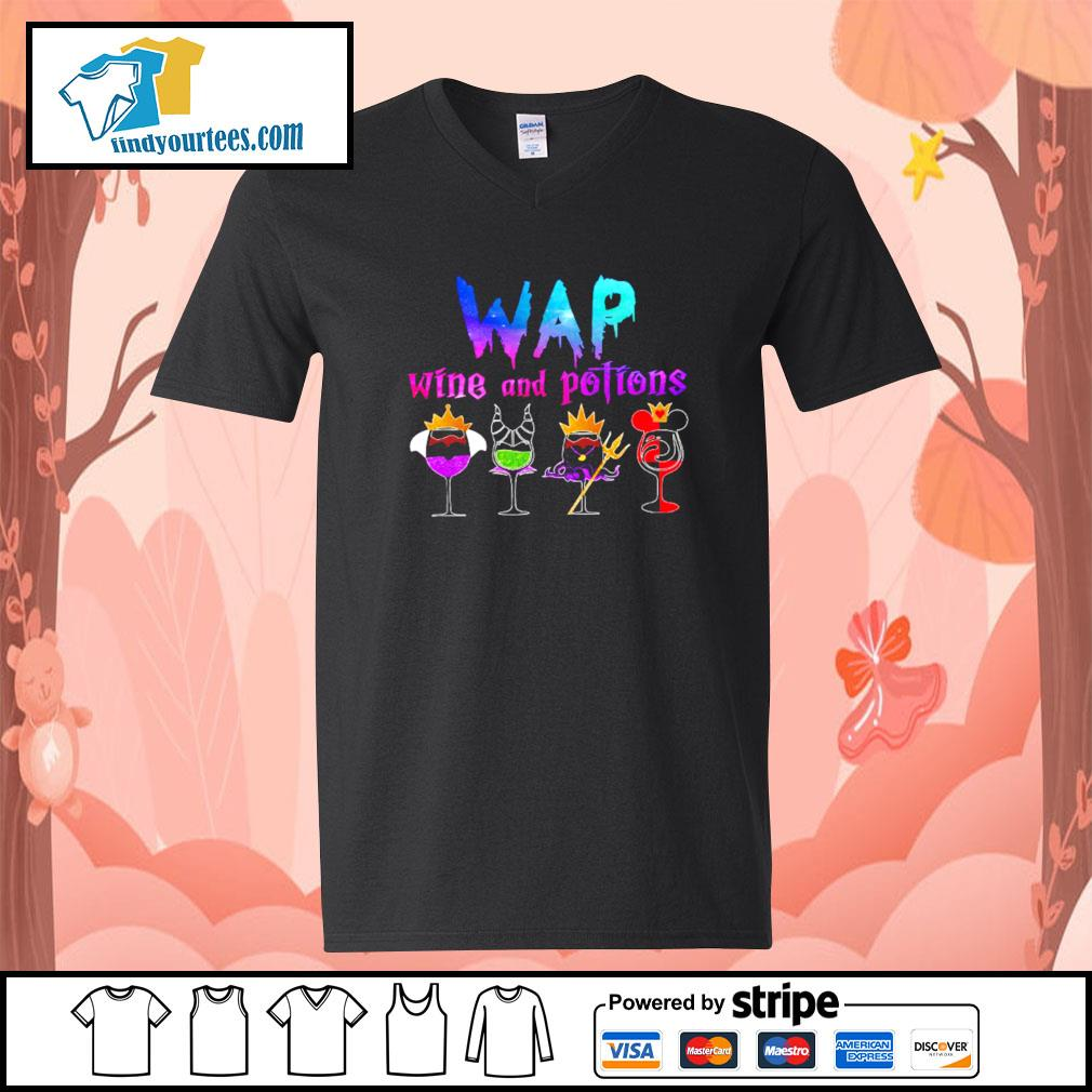 Wap wine and potions Halloween s V-neck-T-shirt