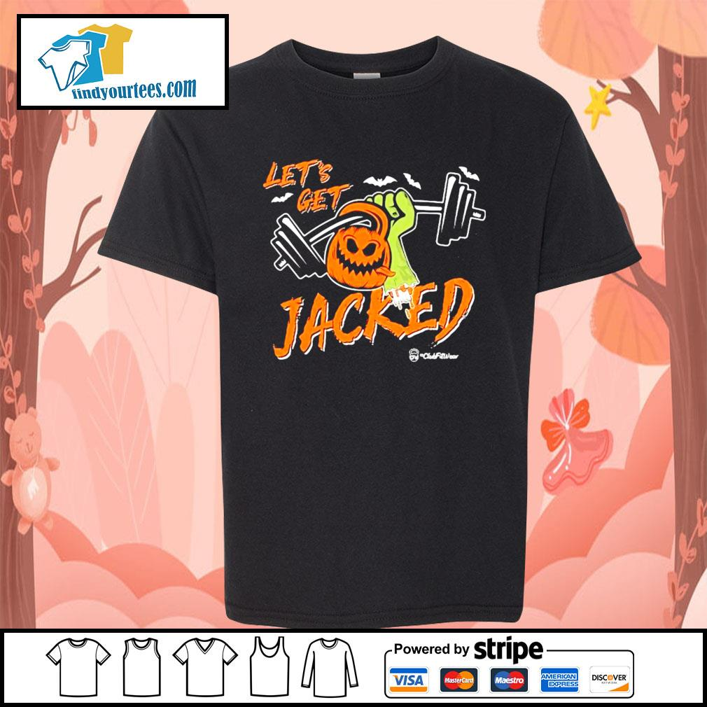 Weightlifting Pumpkin Let's get Jacked Halloween s Kid-T-shirt
