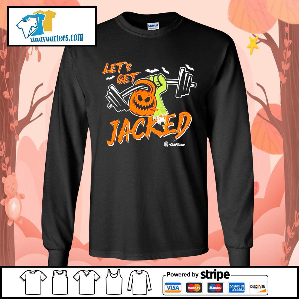 Weightlifting Pumpkin Let's get Jacked Halloween s Long-Sleeves-Tee