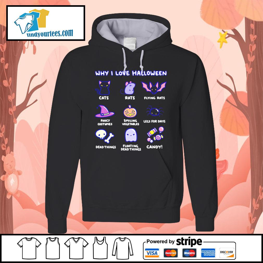Why I love Halloween cute cats rats fancy costumes candy s Hoodie