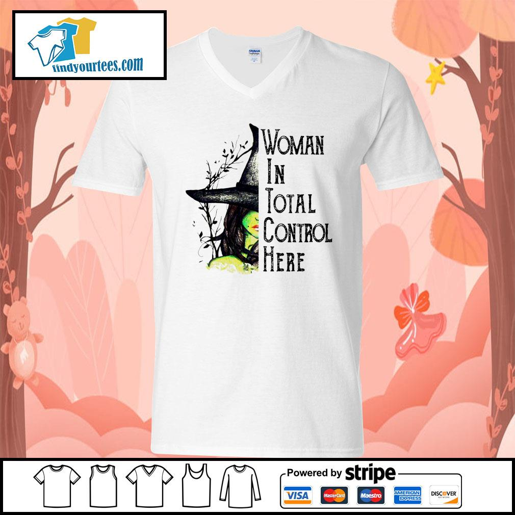 Witch Halloween Woman in total control here s V-neck-T-shirt