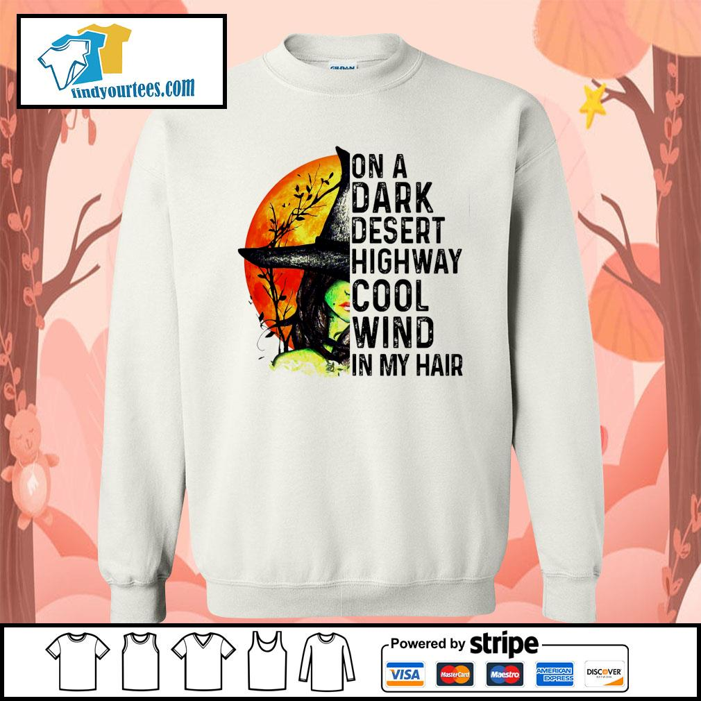 Witch Moon Halloween on a dark desert highway cool wind in my hair s Sweater