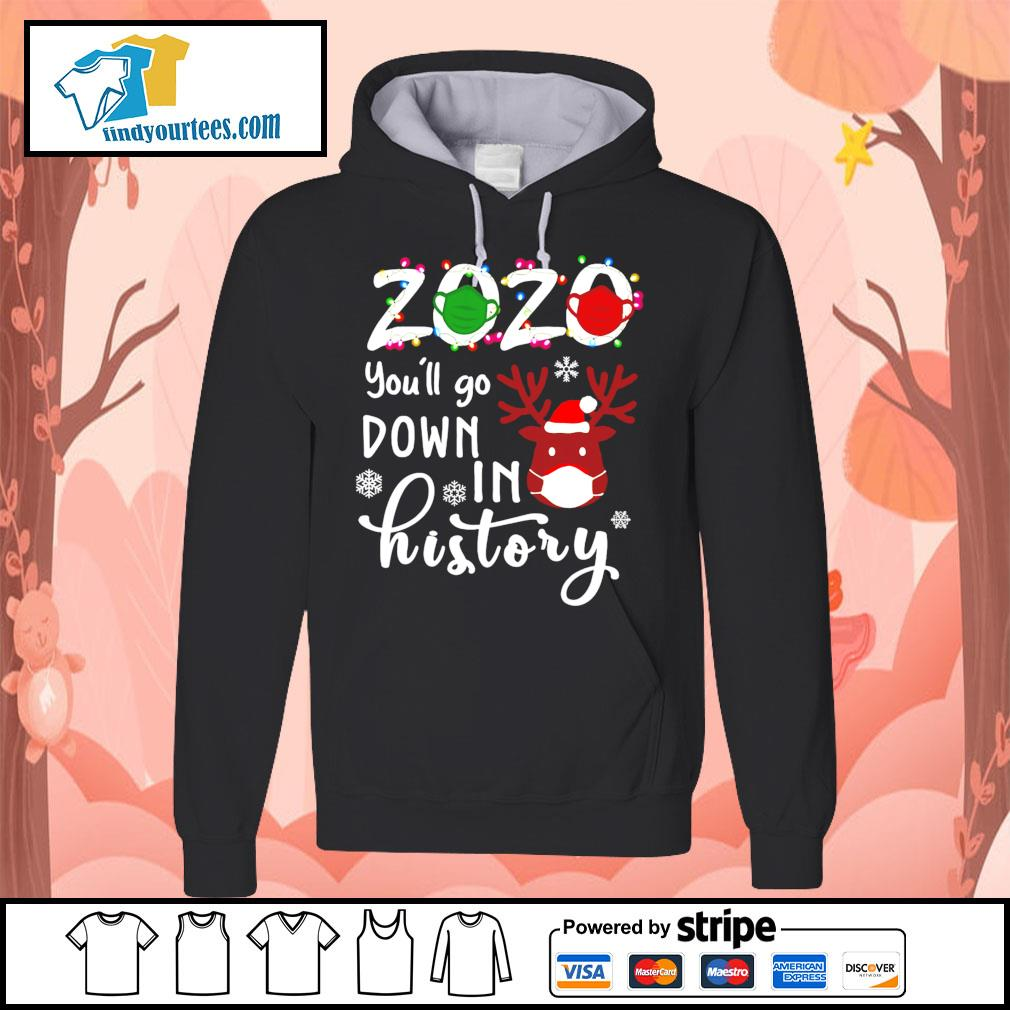 2020 you'll go down in history Christmas shirt, sweater Hoodie