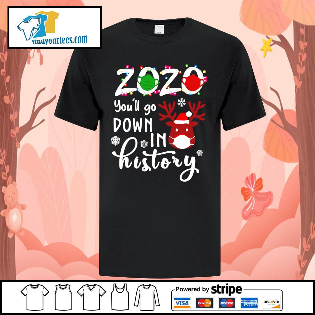 2020 you'll go down in history Christmas shirt, sweater