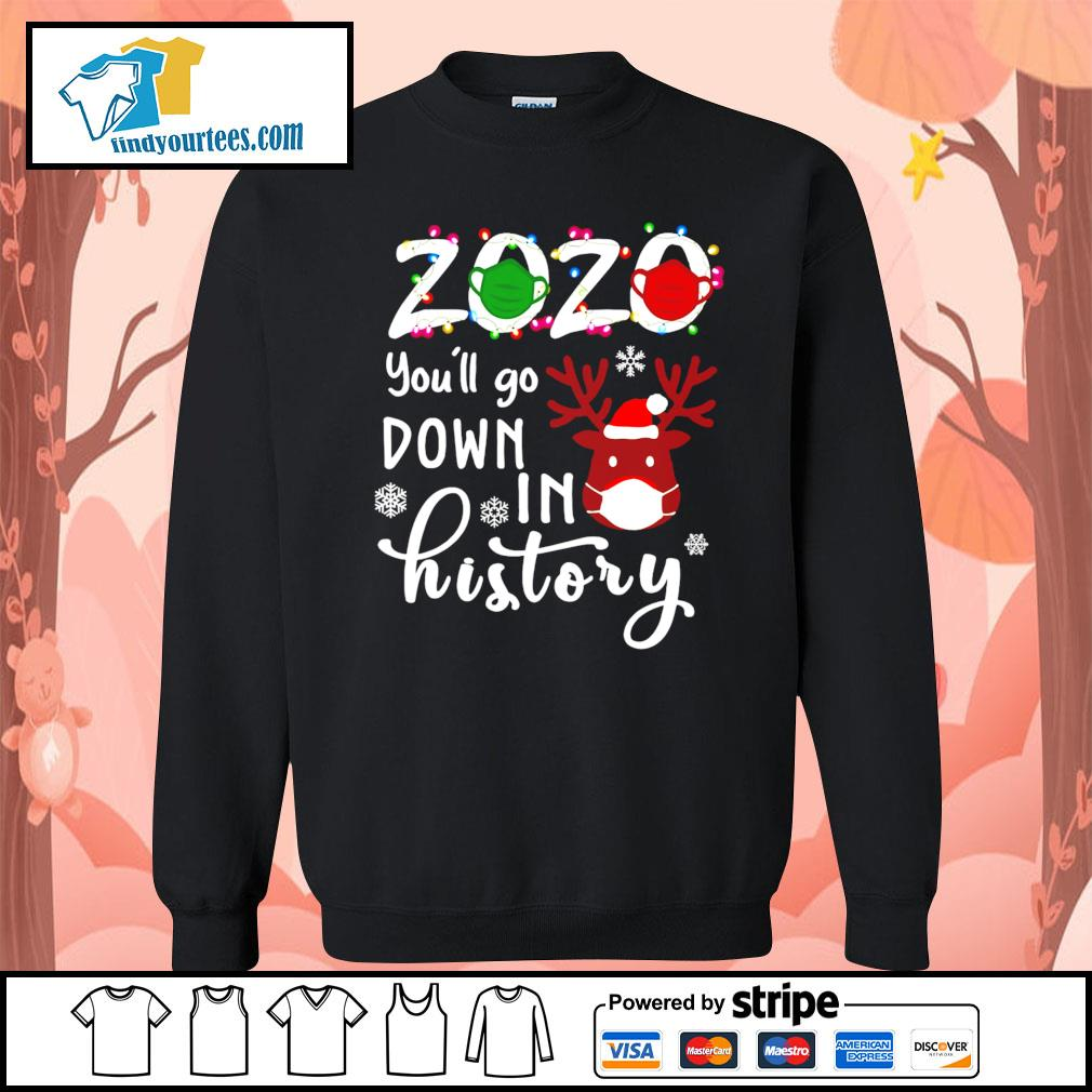 2020 you'll go down in history Christmas shirt, sweater Sweater