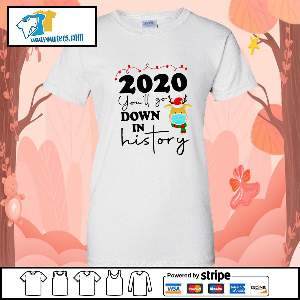 2020 you'll go down in history s Ladies-Tee