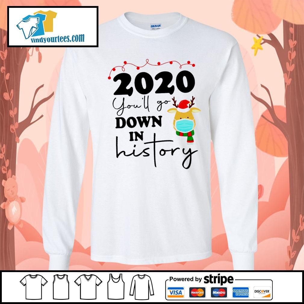 2020 you'll go down in history s Long-Sleeves-Tee