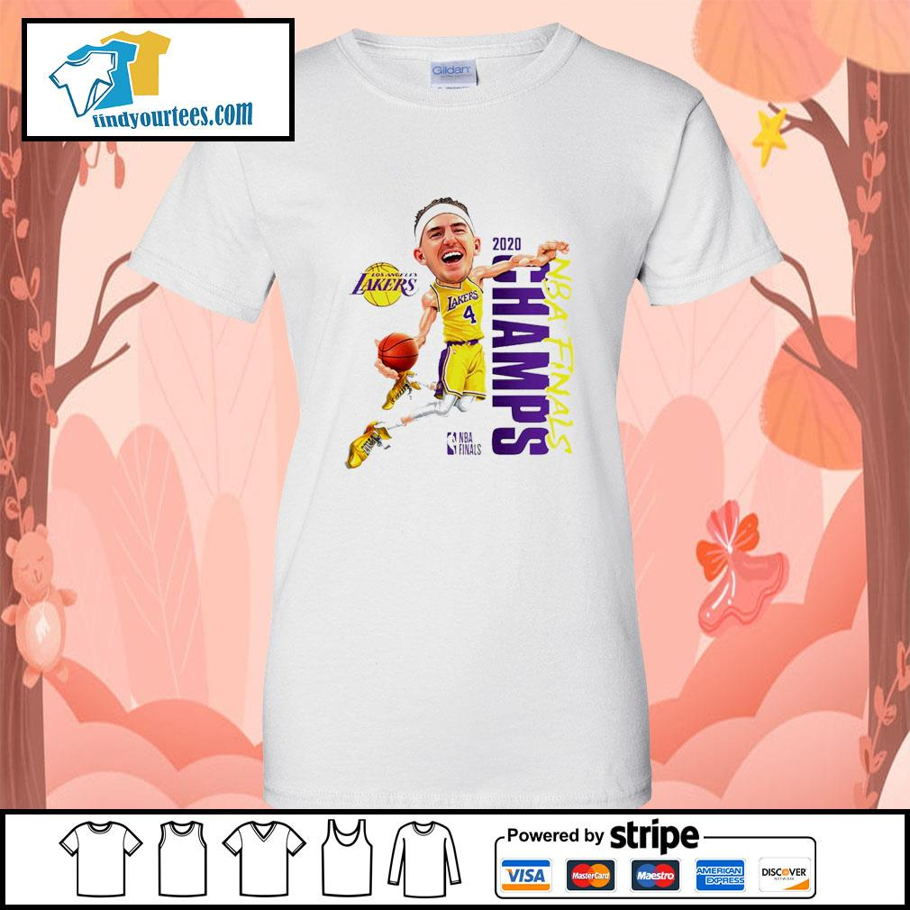 Alex Caruso Los Angeles Lakers Champions 2020 s Ladies-Tee