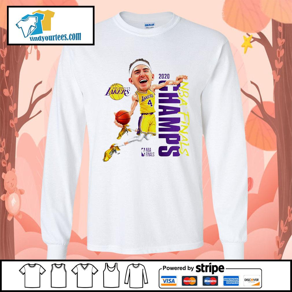 Alex Caruso Los Angeles Lakers Champions 2020 s Long-Sleeves-Tee