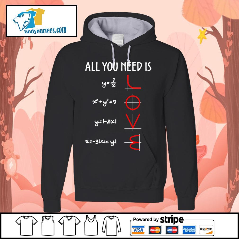 All you need is love math s Hoodie