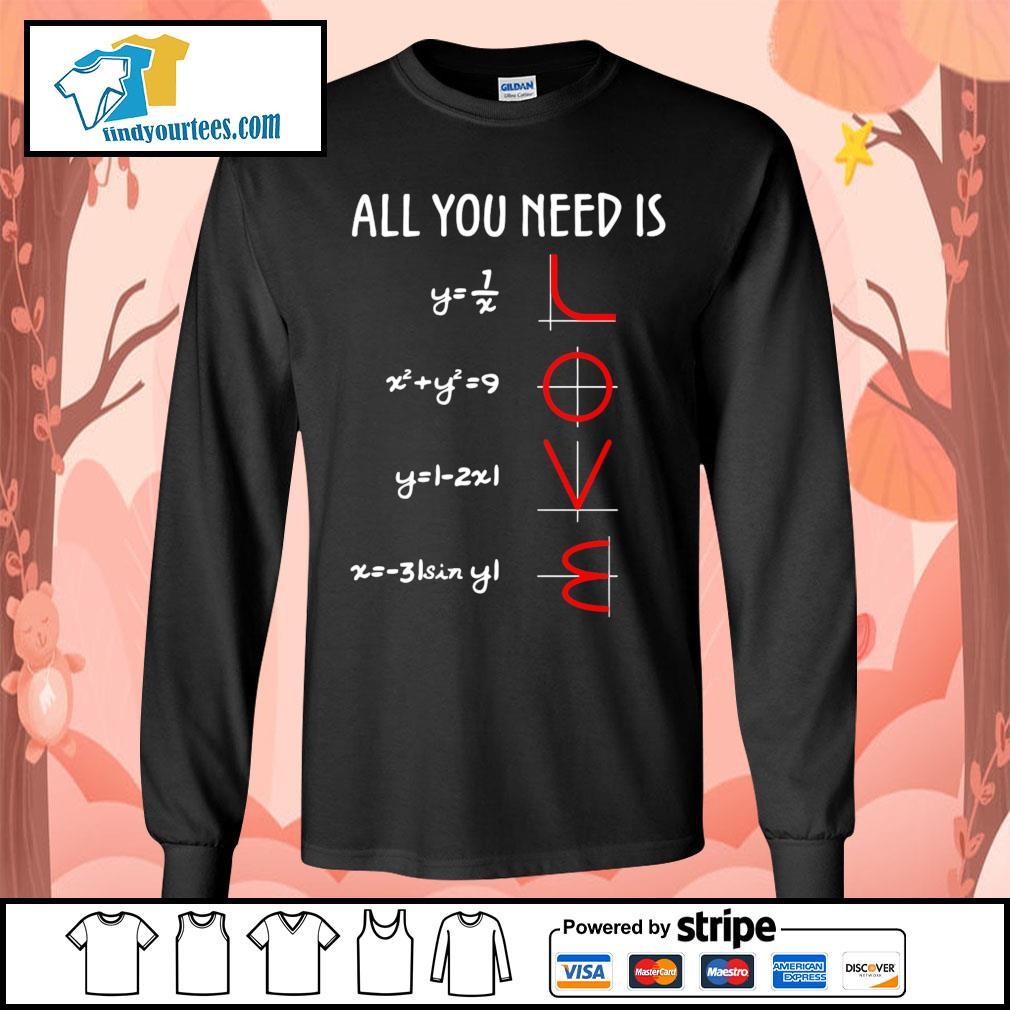 All you need is love math s Long-Sleeves-Tee