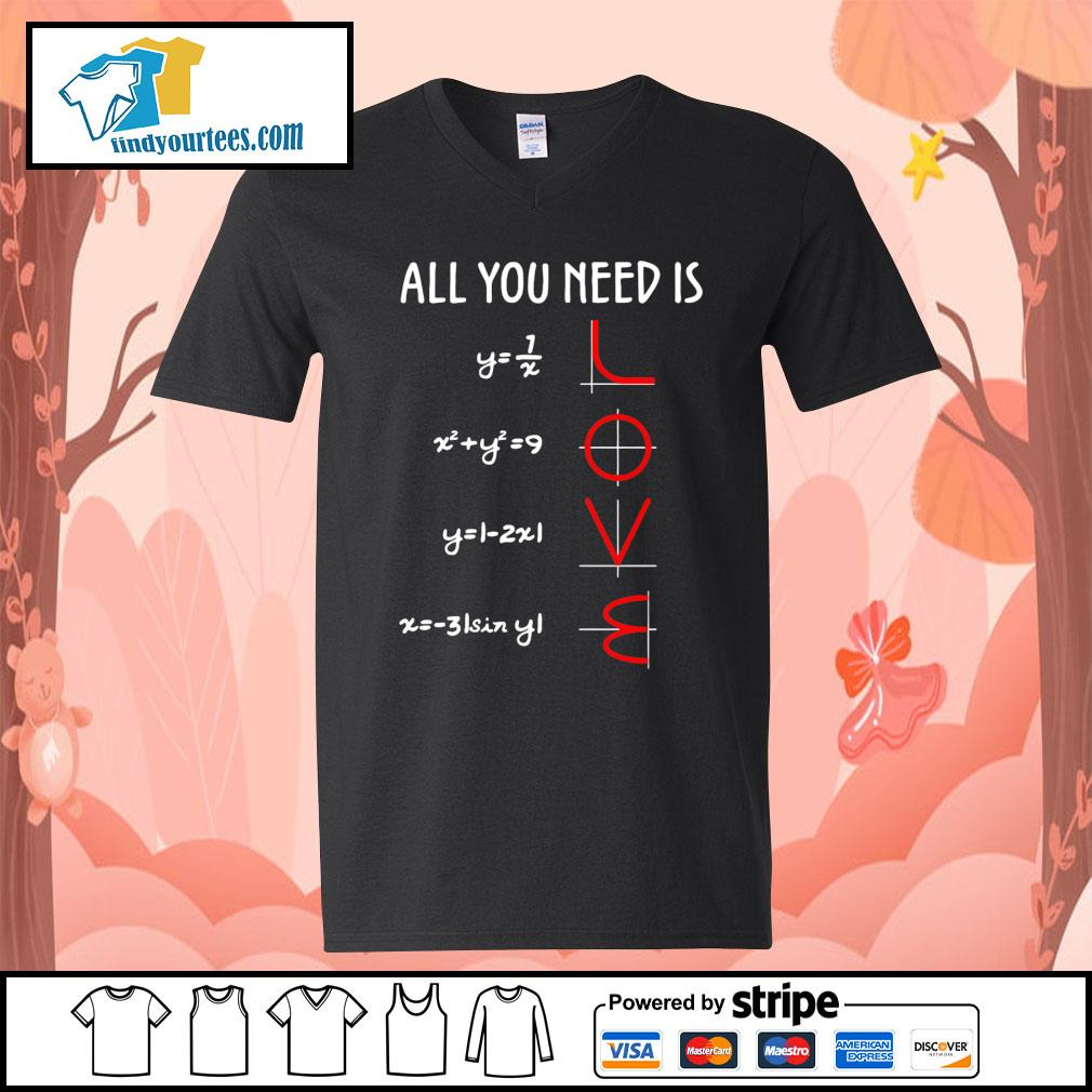 All you need is love math s V-neck-T-shirt