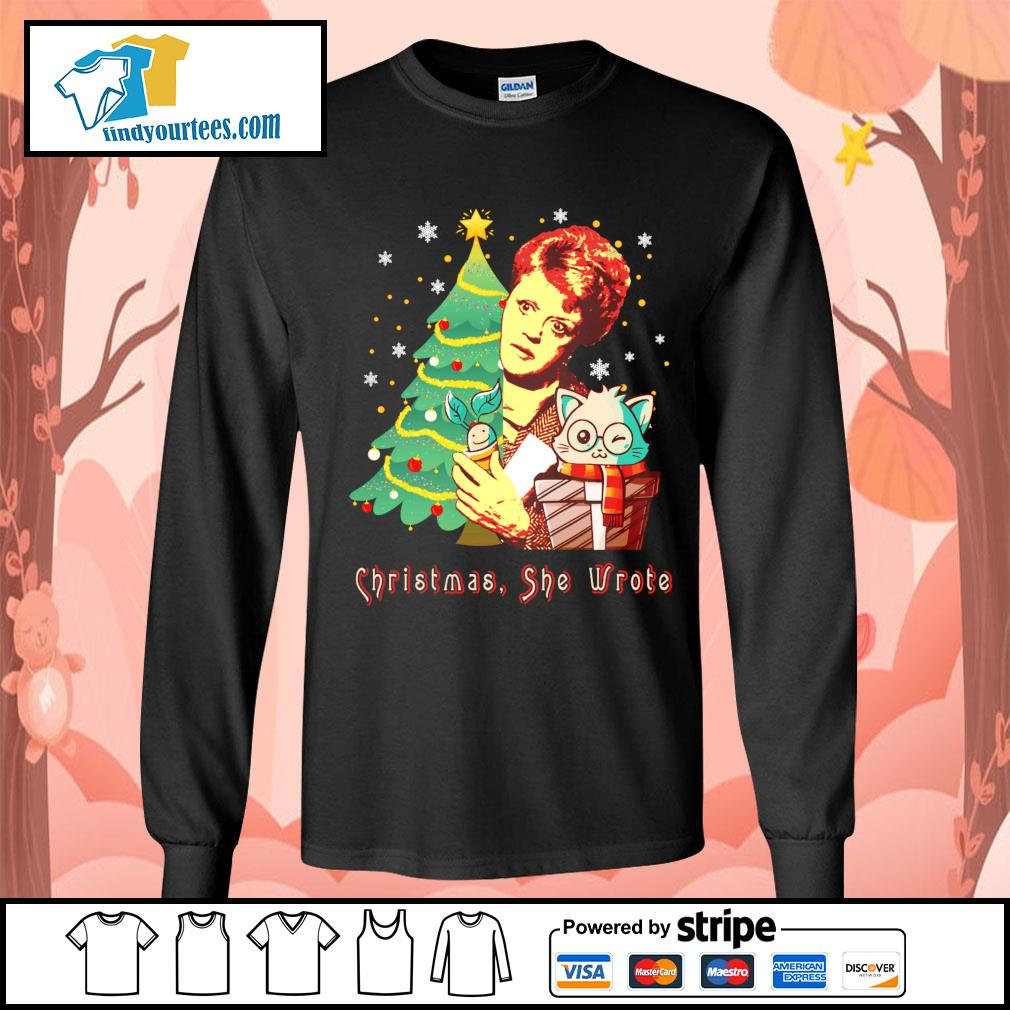 Angela Lansbury Christmas she wrote s Long-Sleeves-Tee