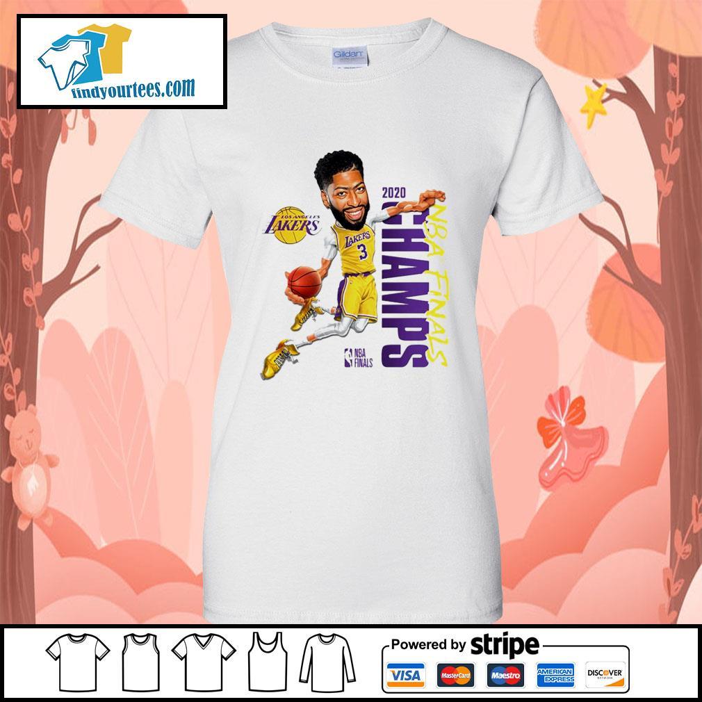 Anthony Davis Los Angeles Lakers Champions 2020 s Ladies-Tee