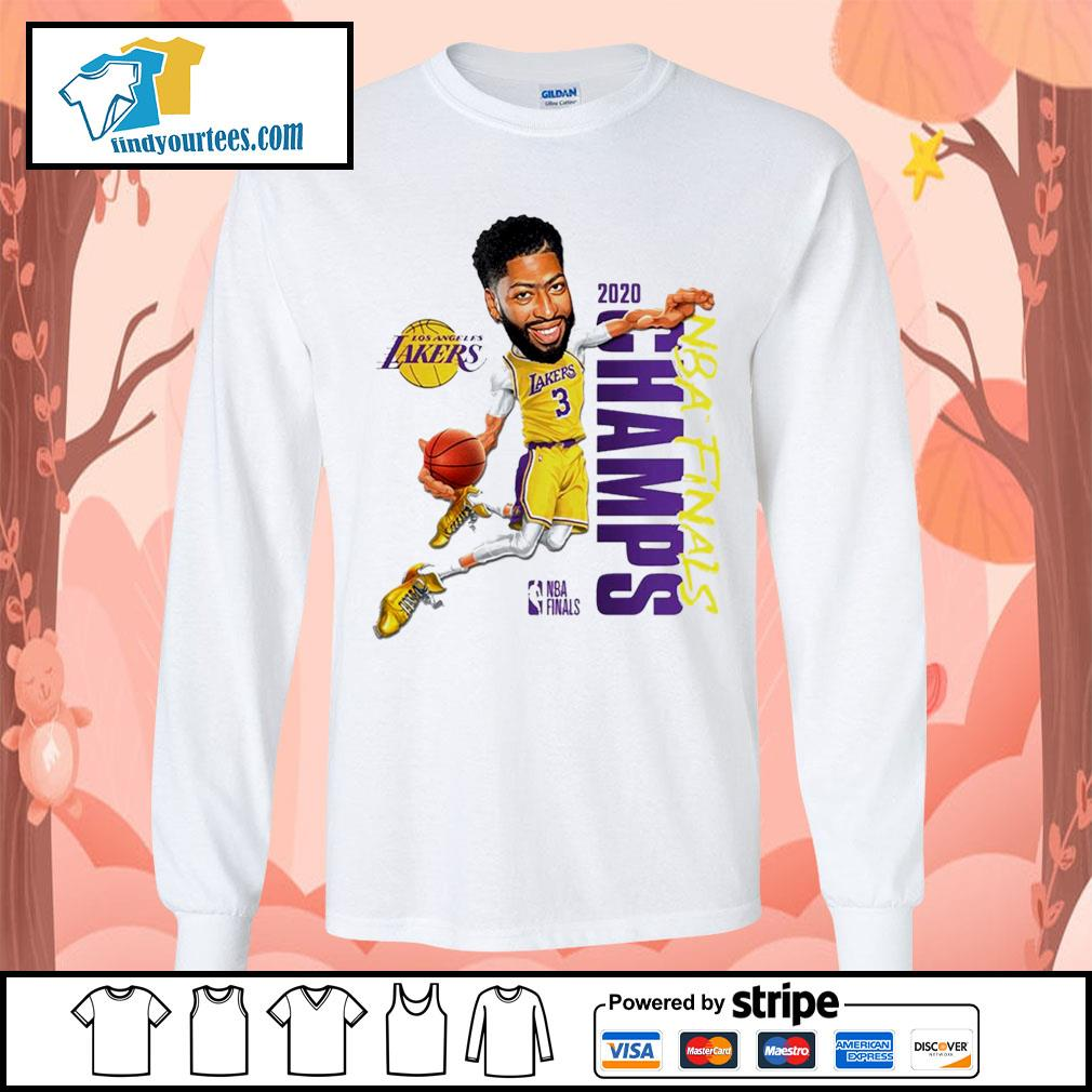 Anthony Davis Los Angeles Lakers Champions 2020 s Long-Sleeves-Tee