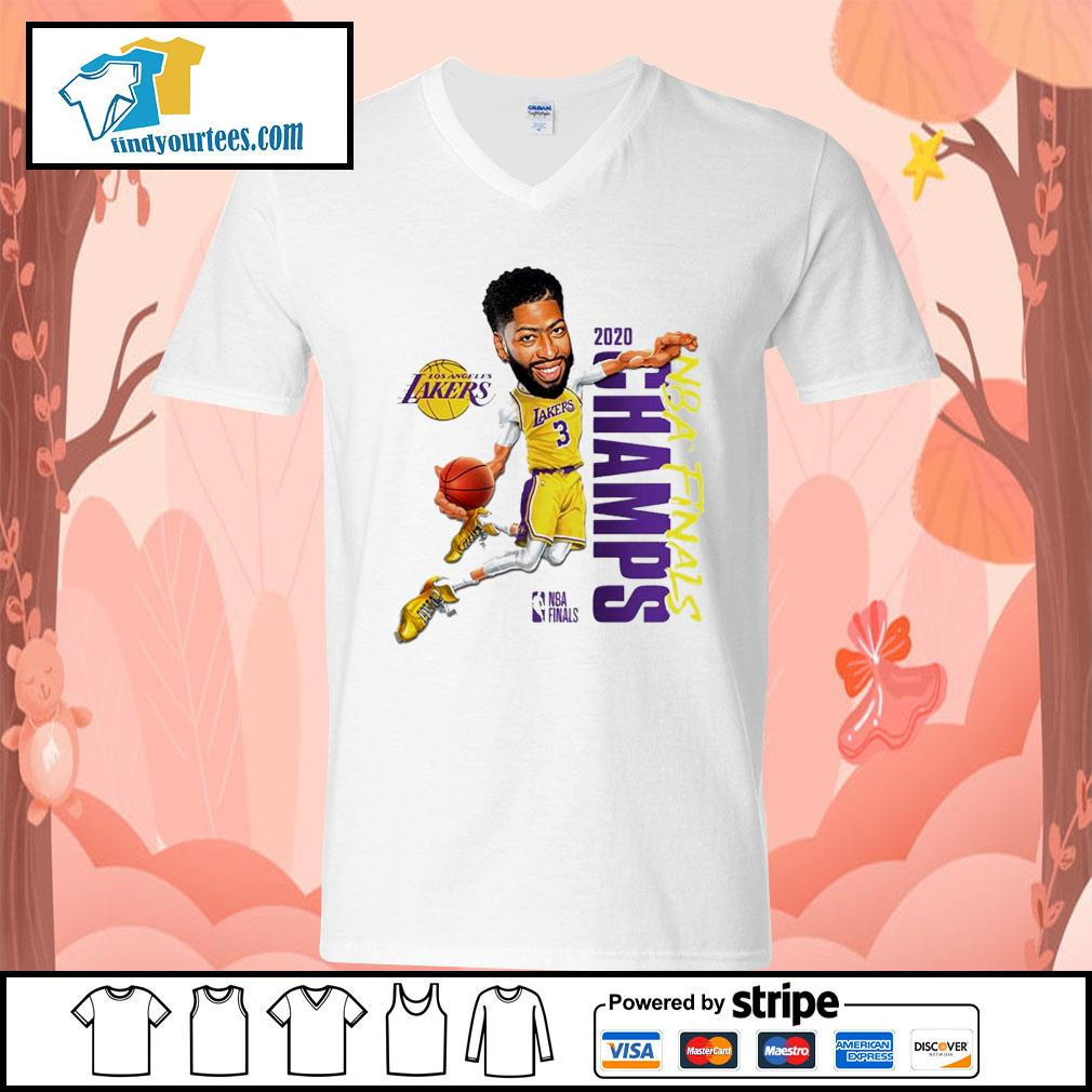 Anthony Davis Los Angeles Lakers Champions 2020 s V-neck-T-shirt