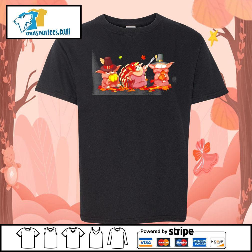 Baby Yoda turkey thanksgiving Halloween s Kid-T-shirt