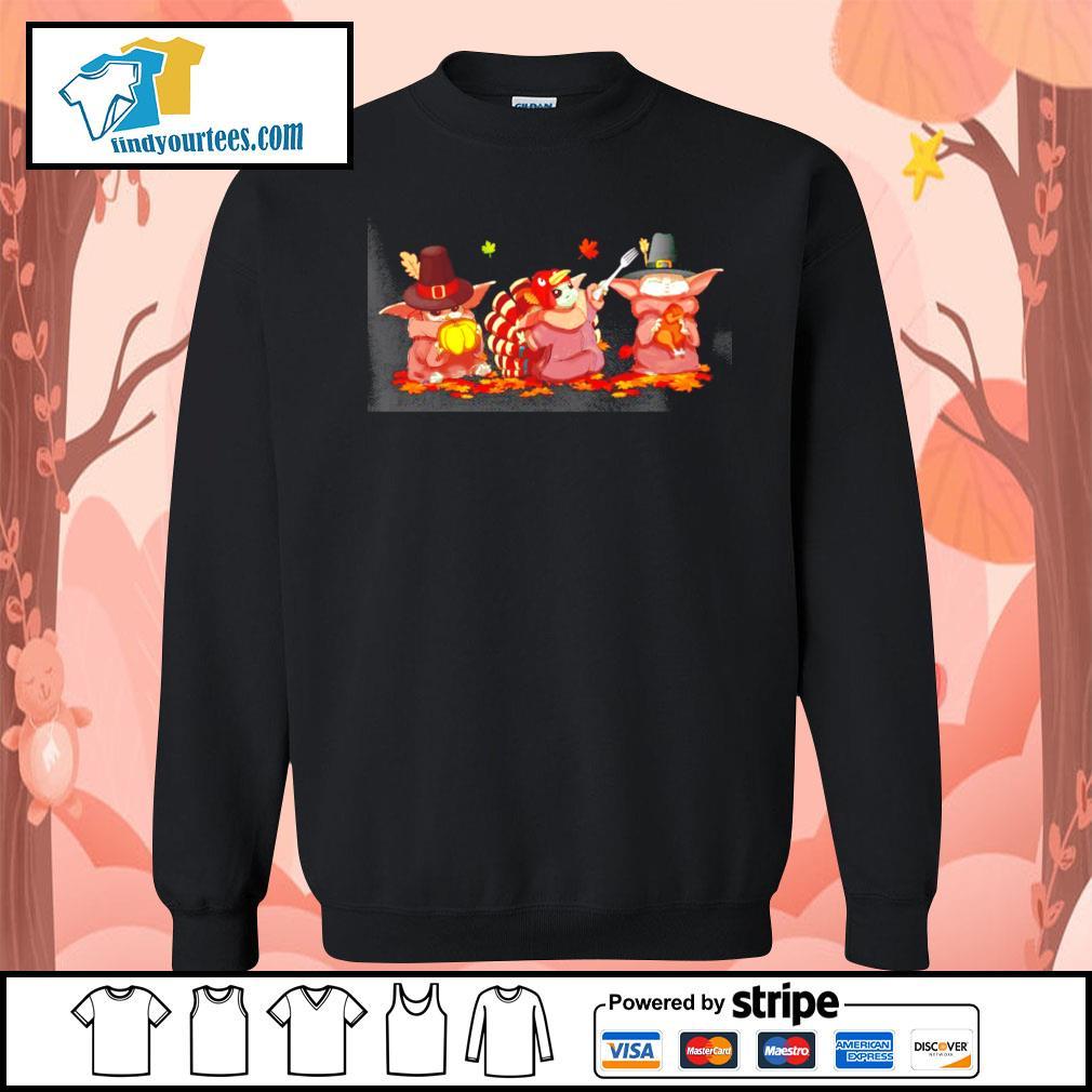 Baby Yoda turkey thanksgiving Halloween s Sweater
