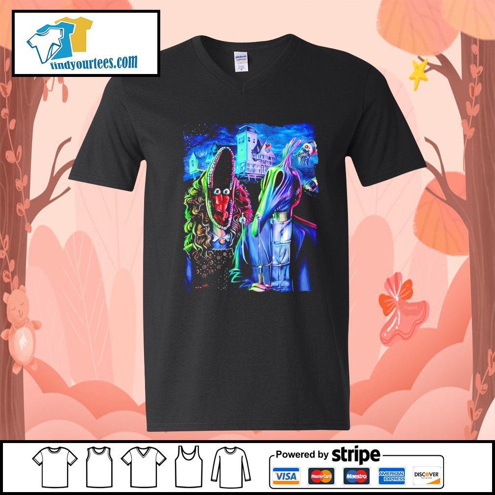 Beetlejuice art American Gothic s V-neck-T-shirt
