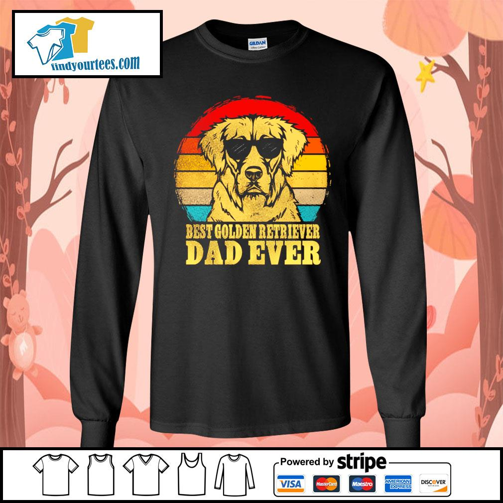 Best Golden Retriever dad ever vintage s Long-Sleeves-Tee