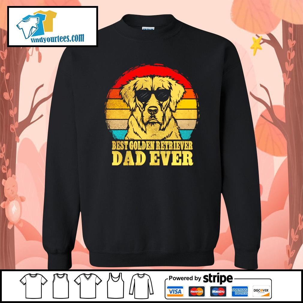 Best Golden Retriever dad ever vintage s Sweater