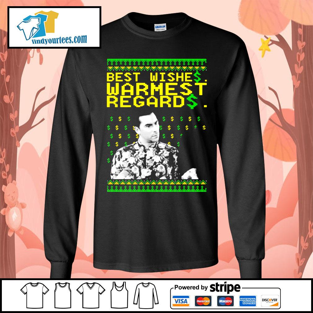 Best Wishes Warmest Regards Christmas shirt, sweater Long-Sleeves-Tee