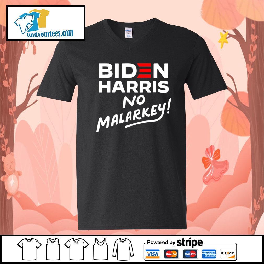 Biden Harris No Malarkey 2020 s V-neck-T-shirt