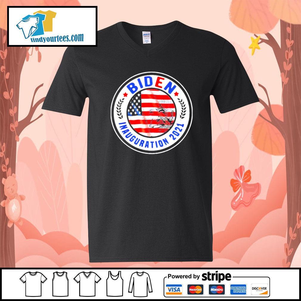 Biden Inauguration 2021 American flag s V-neck-T-shirt