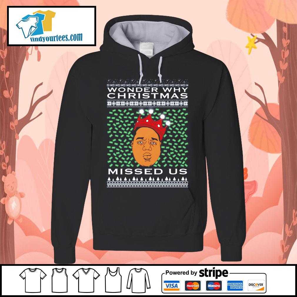Biggie Smalls Wonder why Christmas missed us ugly christmas shirt, sweater Hoodie