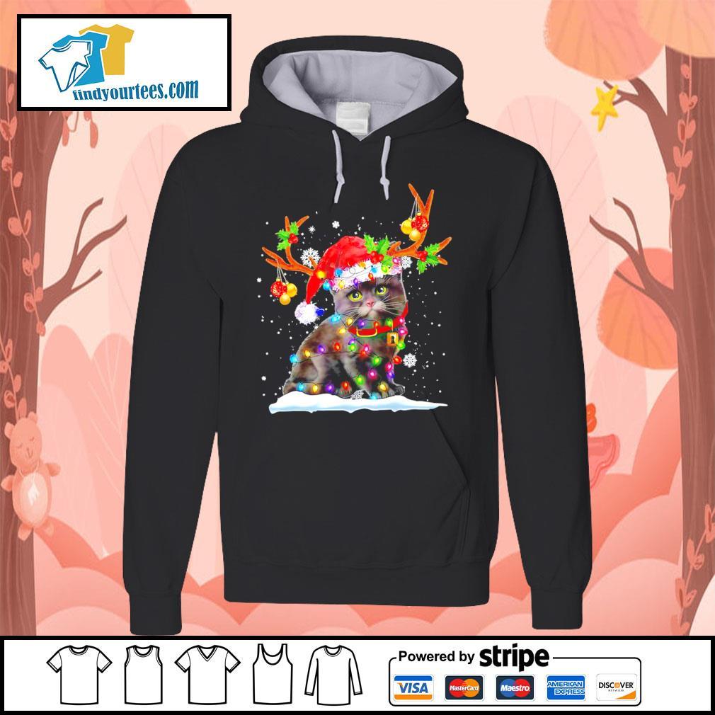 Black cat Reindeer Christmas s Hoodie
