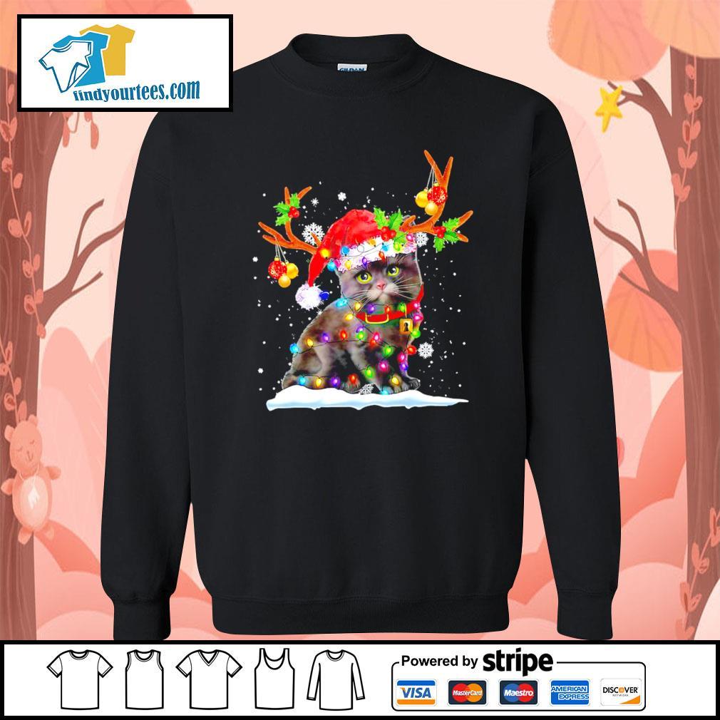 Black cat Reindeer Christmas s Sweater