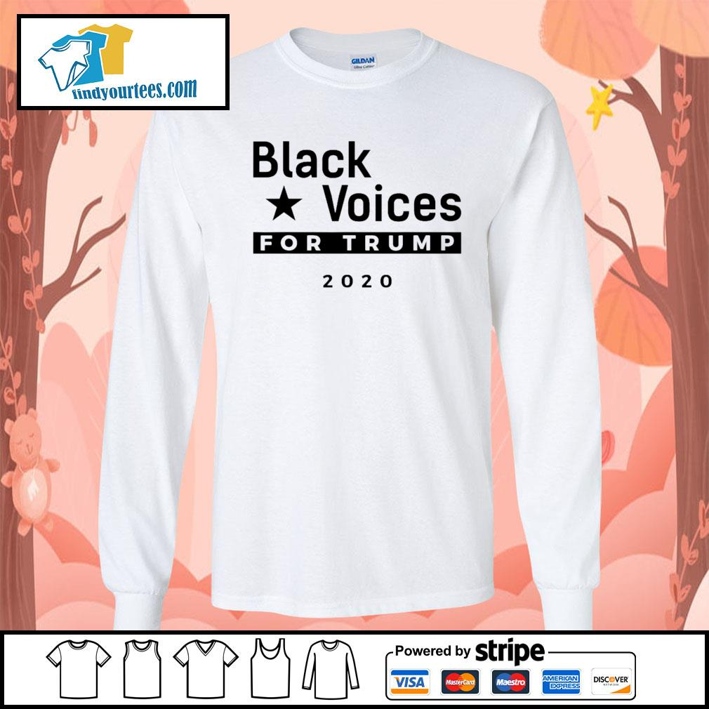 Black Voices for Trump 2020 s Long-Sleeves-Tee