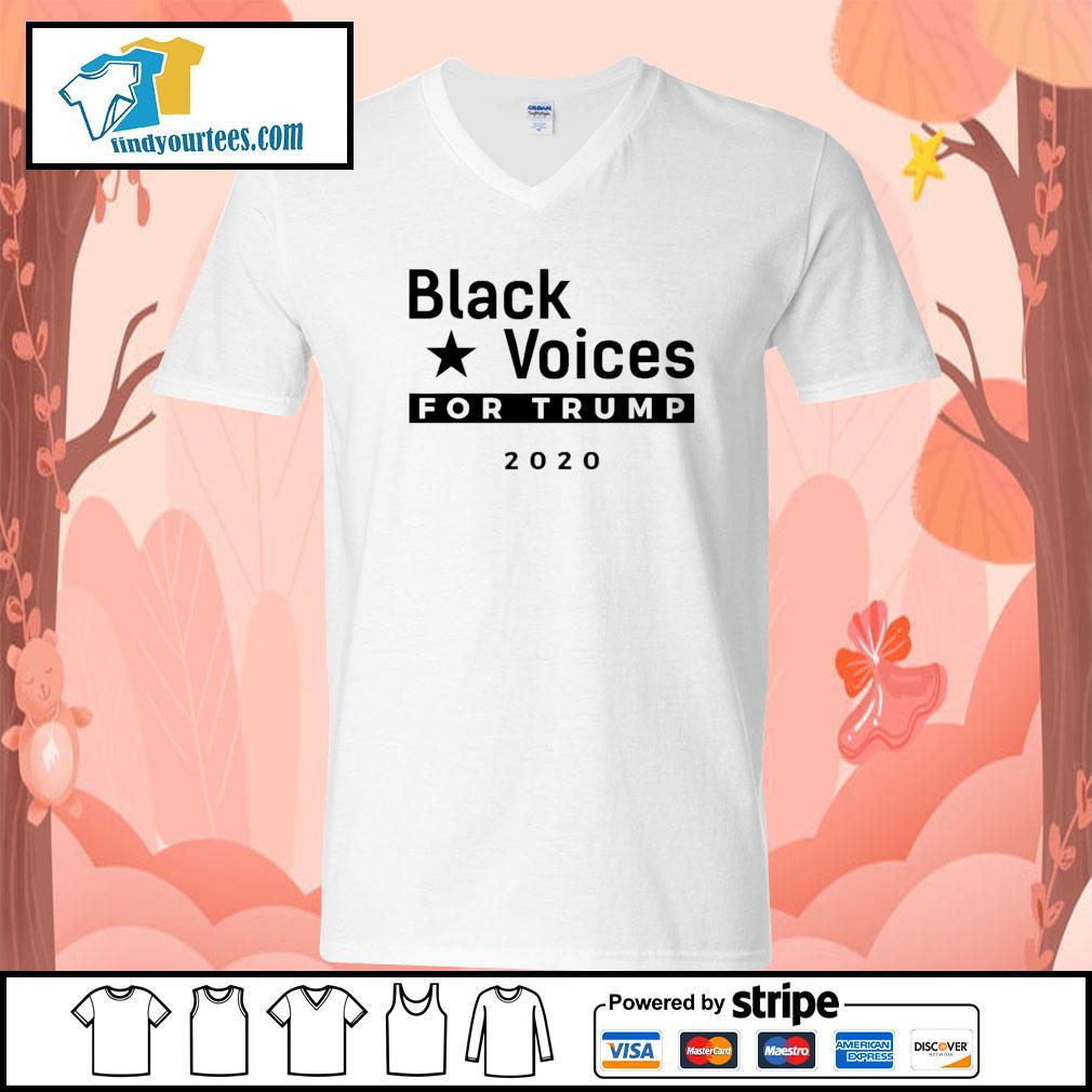 Black Voices for Trump 2020 s V-neck-T-shirt