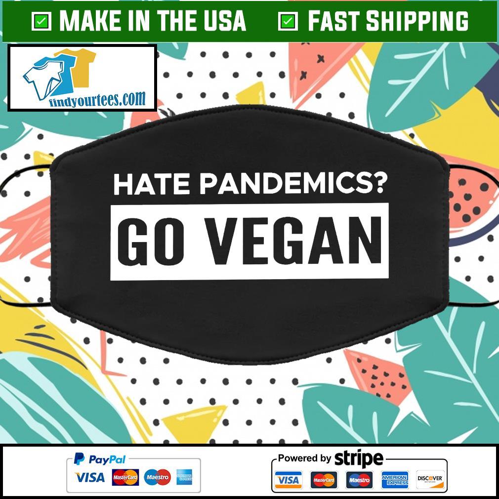 Blue Hate Pandemics Go Vegan Activist Cloth Face Mask Washable