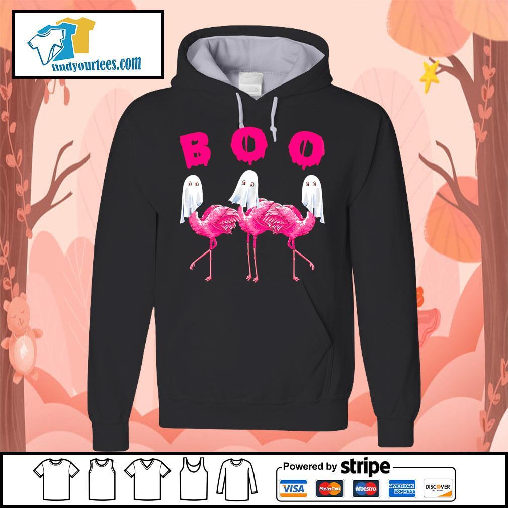 Boo ghost Flamingo Halloween s Hoodie