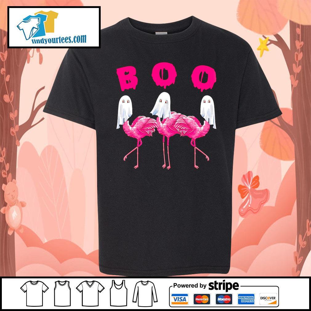 Boo ghost Flamingo Halloween s Kid-T-shirt