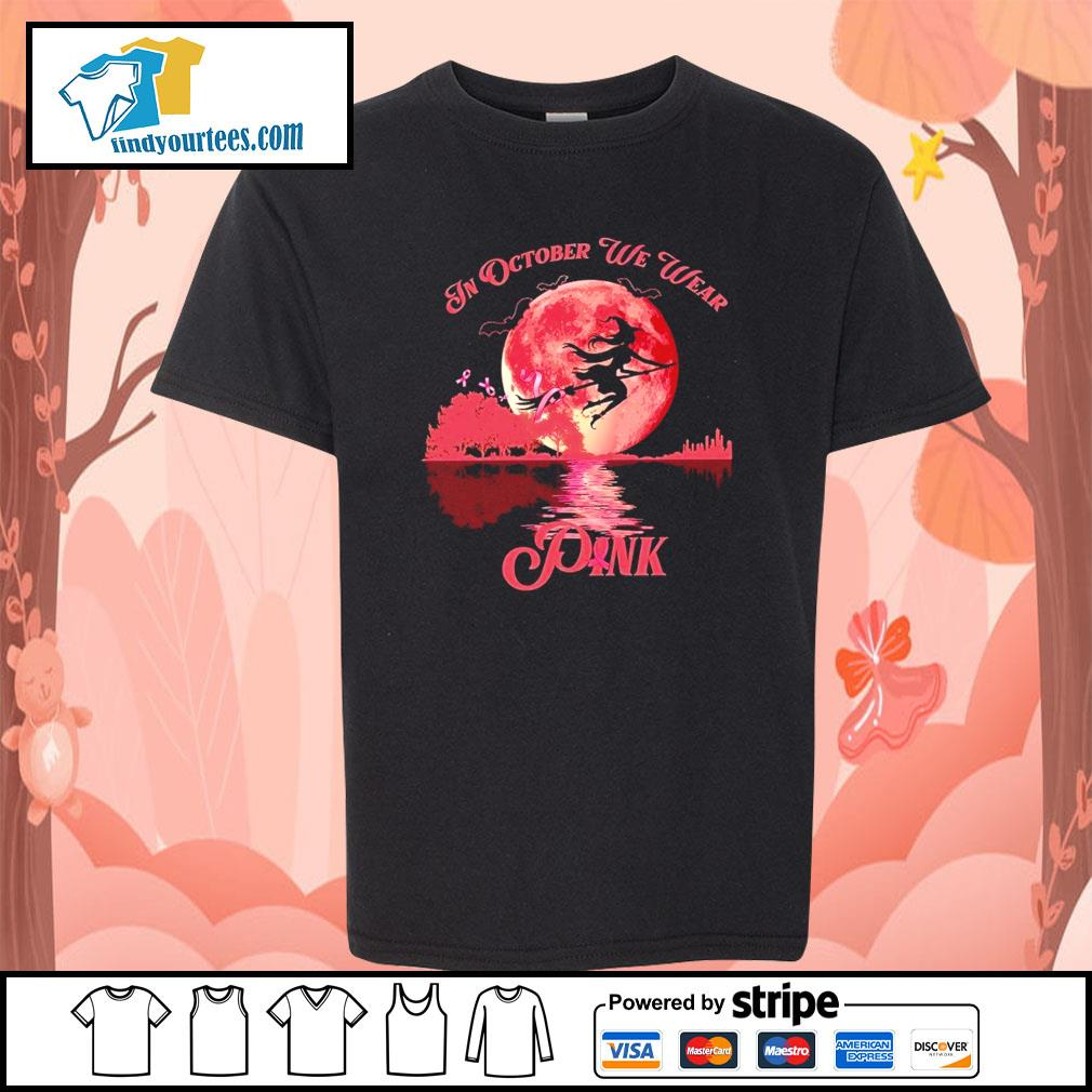 Breast Cancer Witch in october we wear pink Halloween s Kid-T-shirt