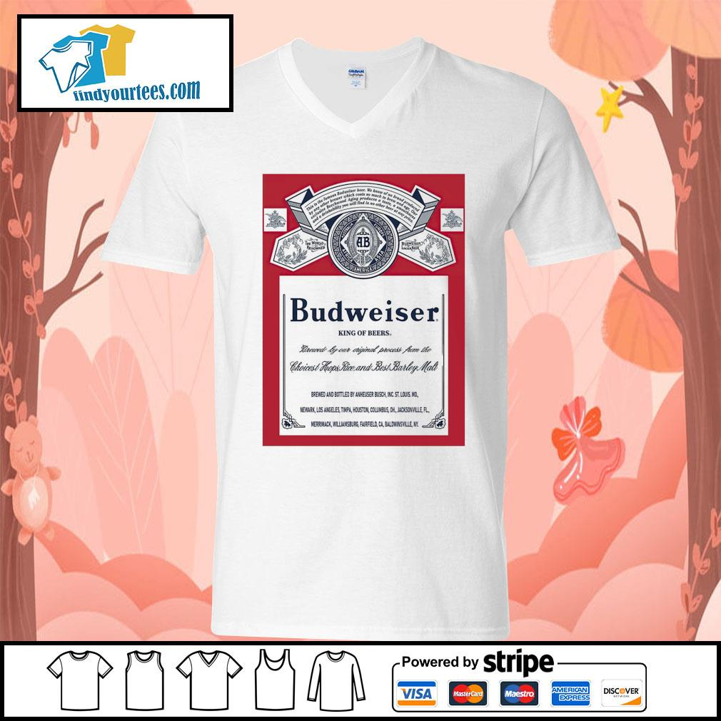 Budweiser King of beers s V-neck-T-shirt