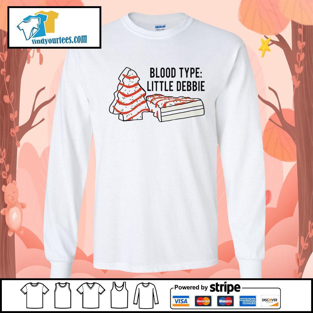 Cakes tree blood type little debbie Christmas s Long-Sleeves-Tee