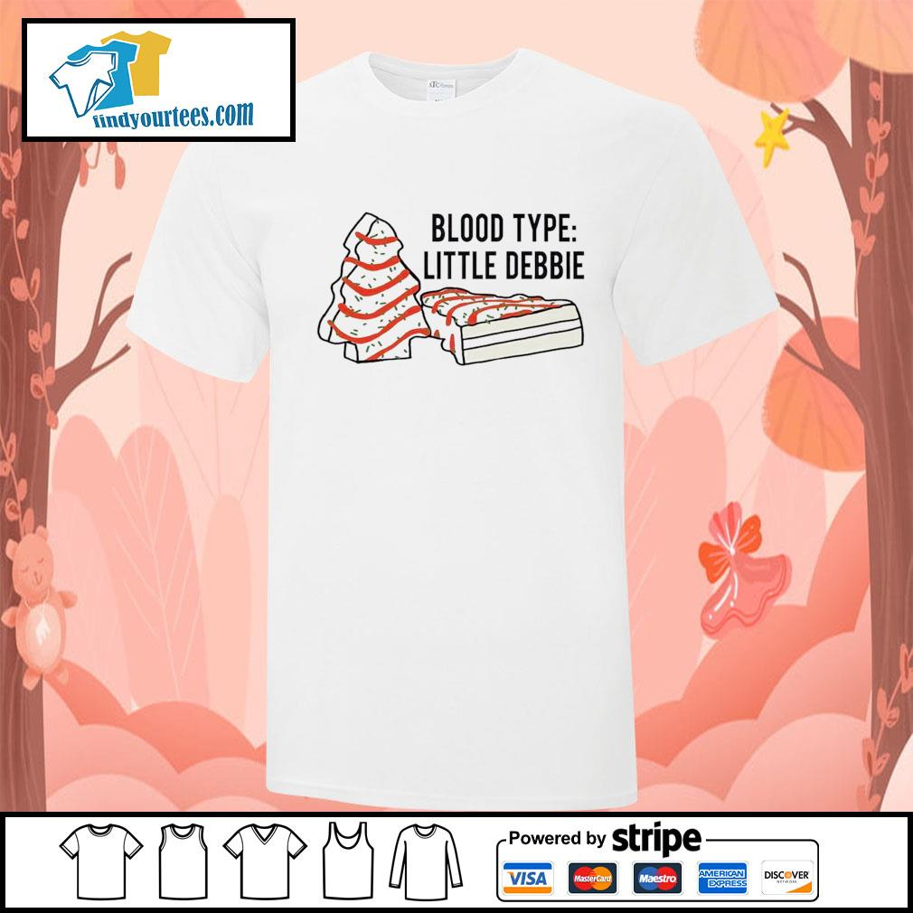 Cakes tree blood type little debbie Christmas shirt