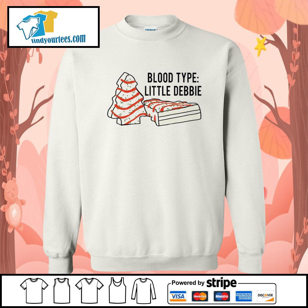 Cakes tree blood type little debbie Christmas s Sweater