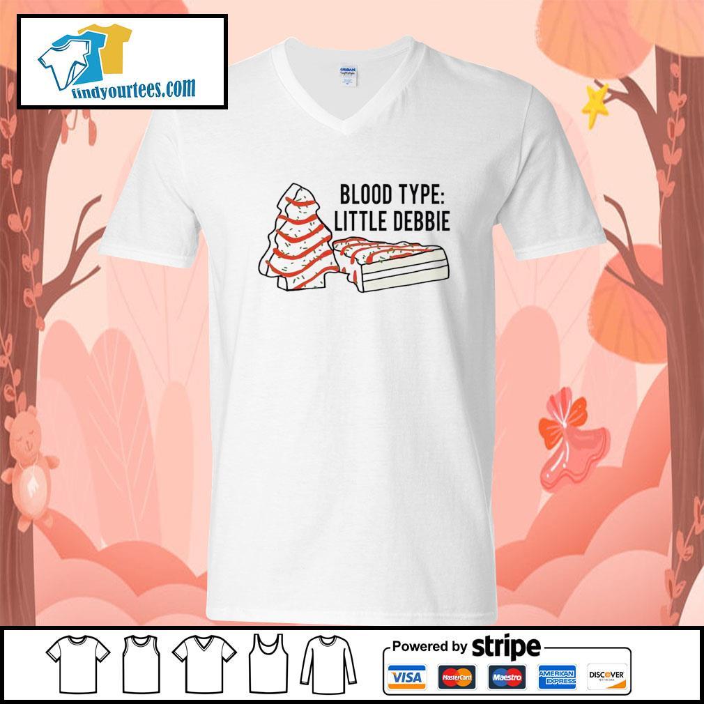 Cakes tree blood type little debbie Christmas s V-neck-T-shirt