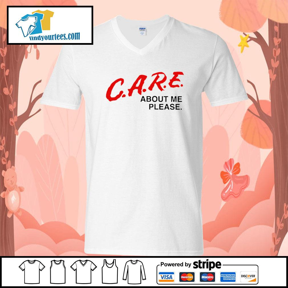 Care about me please s V-neck-T-shirt
