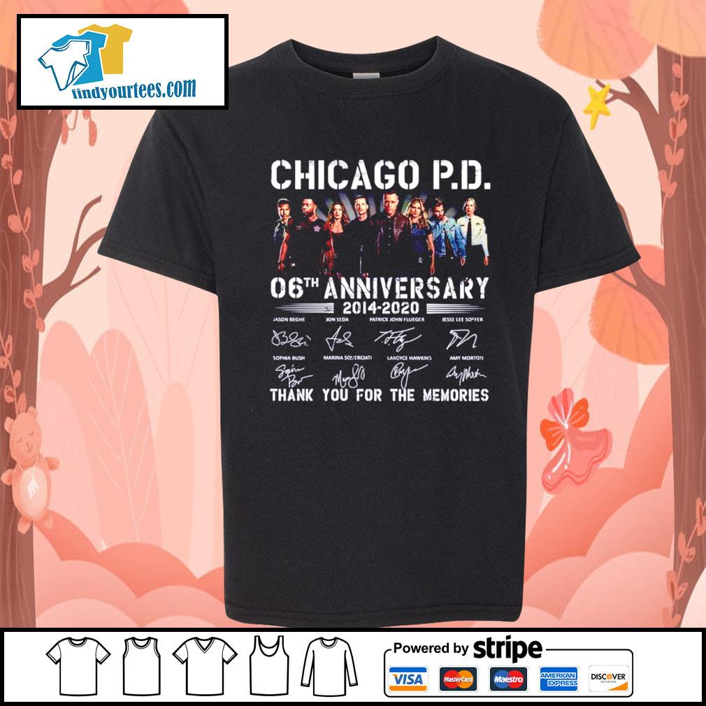 Chicago P.D 06th anniversary 2014 2020 thank you for the memories s Kid-T-shirt