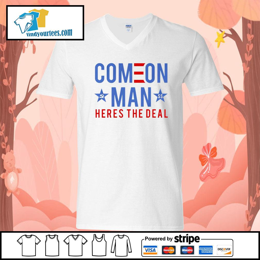 Come on man here's the deal s V-neck-T-shirt